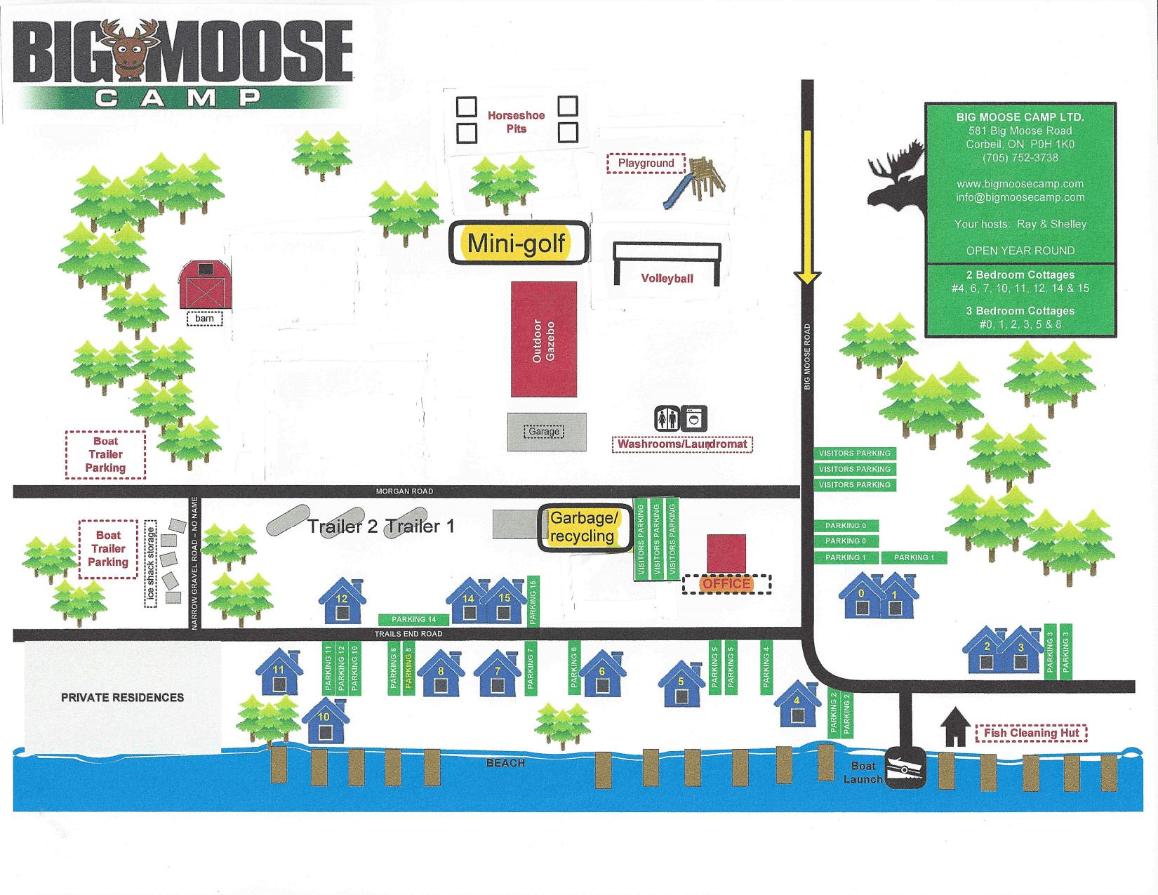 Big Moose Camp Property Map - Big Moose Camp